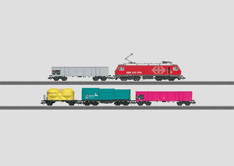 Schweizer Güterzug.