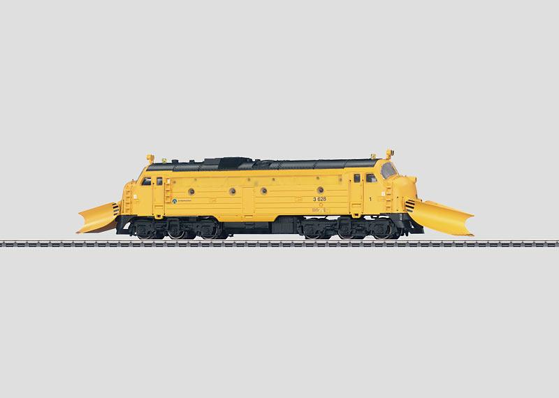 Diesel Locomotive with Snowplows.