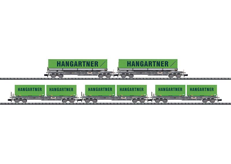 """Taschenwagen-Set """"Hangartner""""."""