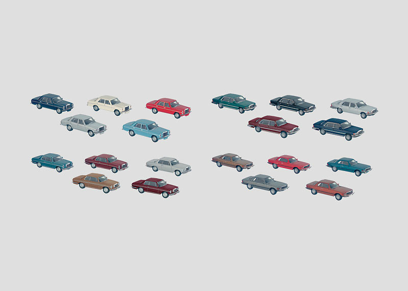"""Set with 40 Model Automobiles in the """"Auto Plant"""" Display."""