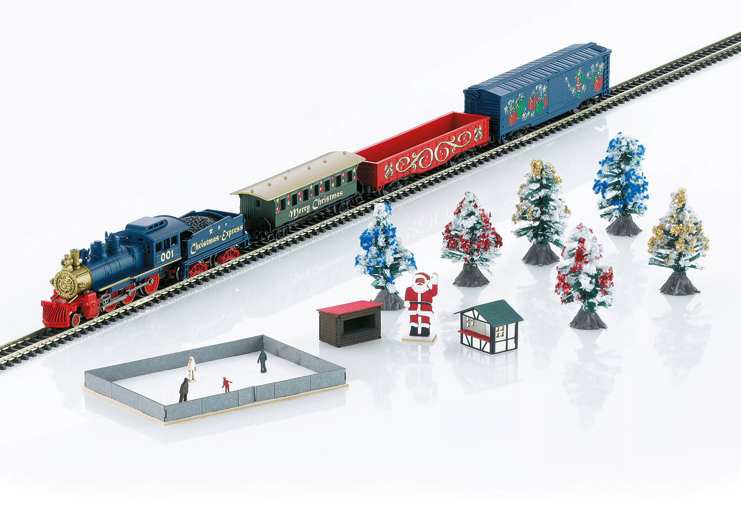 Christmas Starter Set. 230 Volts. Freight Train with an Oval of ...