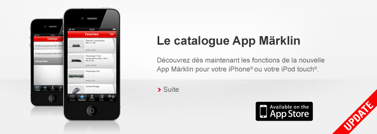Le catalogue App Märklin